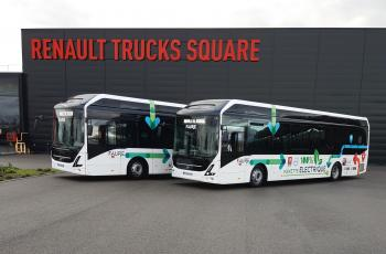 Electric buses Renault Trucks site
